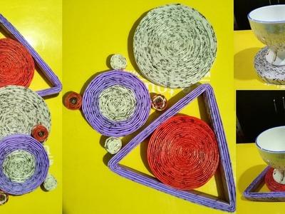 How To Make A News Paper Coaster | DIY Newspaper Craft Tutorial