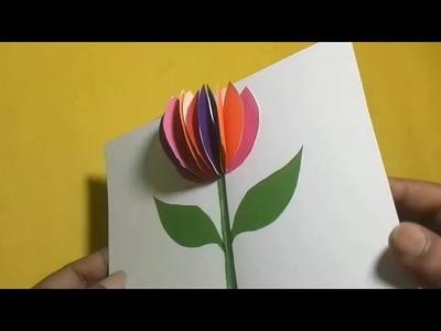 How to make a Pop Up Card Flower | PaperCraft#11
