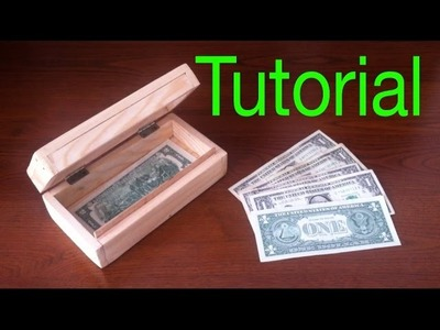 How to make a Wood Box (Simple safe for Money)