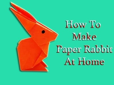 How To Make An Origami Bunny Face