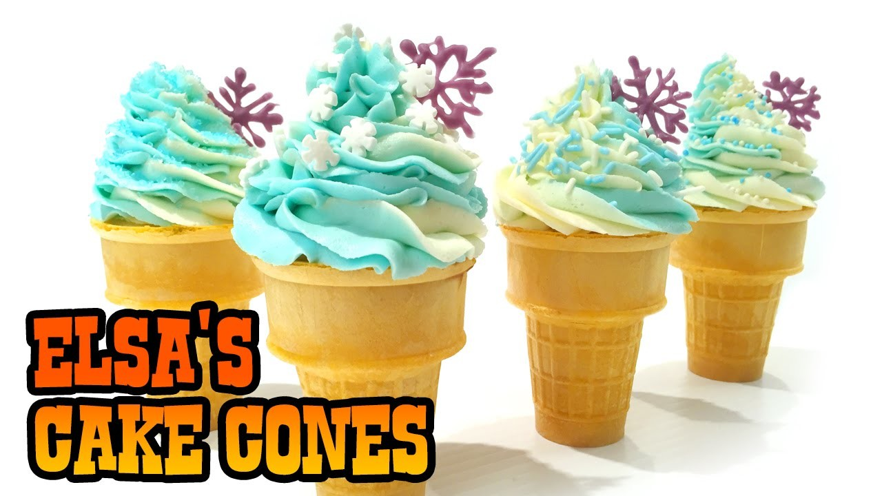How to Make ELSA'S CAKE CONES- Kids Baking Lesson