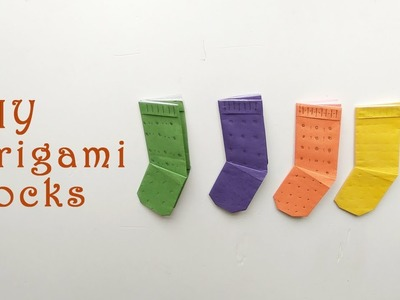 How to make Origami Socks -  DIY Origami Paper Crafts -  Easy Paper Crafts Ideas for Kids