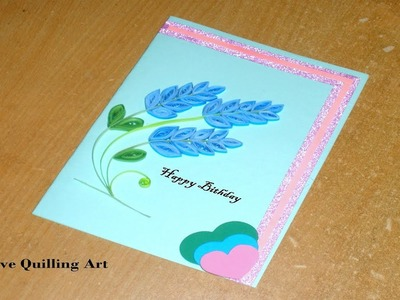 How to Make Paper Quilling Lavender Flowers Birthday Card | Easy Origami Flowers | Paper Crafts