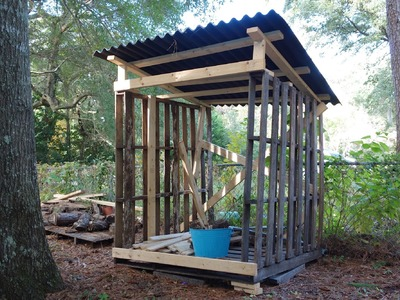 Keep your wood dry with scrap wood and pallets