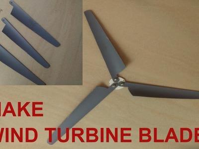 Make Mini Wind Turbine Propeller Blades DIY Tutorial