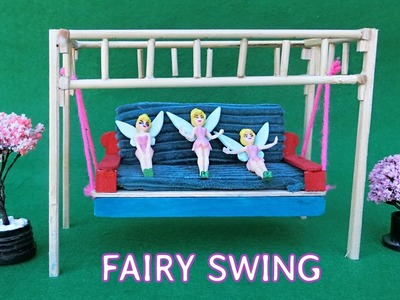 Miniature Swing for Fairy Garden | Popsicle Stick Crafts