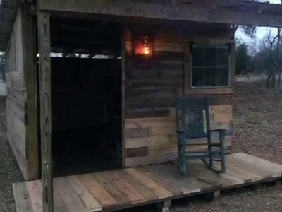 My Tiny Cabin Made from Pallets and Reclaimed Lumber