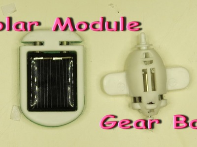 Robot kits solar module and gear box. Electric robots. Solar toys