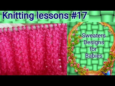 Single Colour    Knitting    Sweater    Design    easy to make