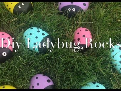Super cute & easy DIY Ladybug rock tutorial