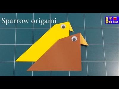 1 How to make origami sparrow bird