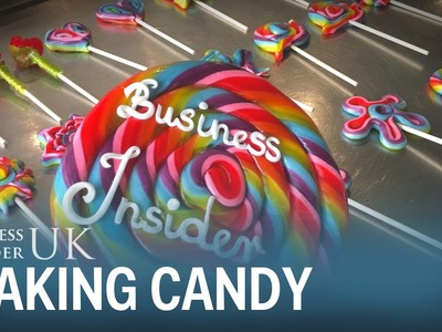 A candy master showed us how to mould boiling sugar syrup into tasty rainbow lollipops