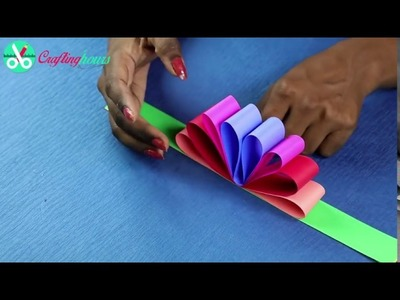 Beautifull Hanging Paper Flowers Easy way by All Type Video on YouTube