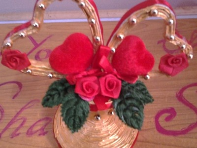 Best Out Of Waste Paper Pretty Heart Showpiece