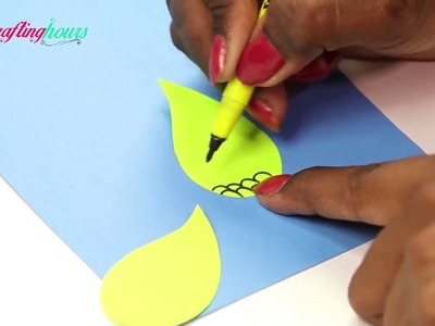 DIY CRAFTSPaper Crafts for Kids   Easy Blue and Neon Peacock With Paper