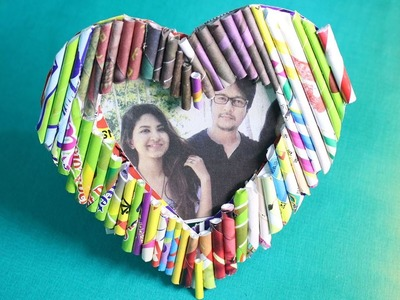 DIY Heart Photo Frame | How To Make Photo Frame From Paper |  Romantic Photo Frame