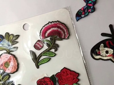 DIY:How to apply applique.patches using fabric glue or iron
