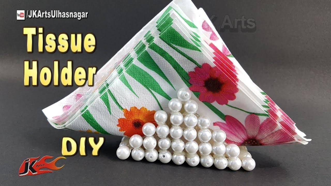 DIY Paper Napkin Holder|  How to make a Tissue Paper holder | HOME DECOR | JK Arts 1224