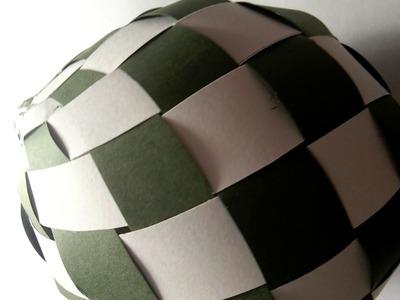 DIY paper woven ball