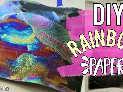DIY Rainbow Paper | Testing Pinterest DIYs | Crafty Phoenix