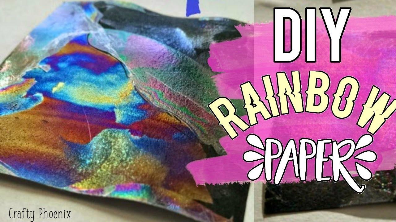 DIY Rainbow Paper   Testing Pinterest DIYs   Crafty Phoenix