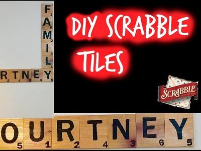 DIY Scrabble Tiles|How to make your own Scrabble Tiles (Wall Decor)