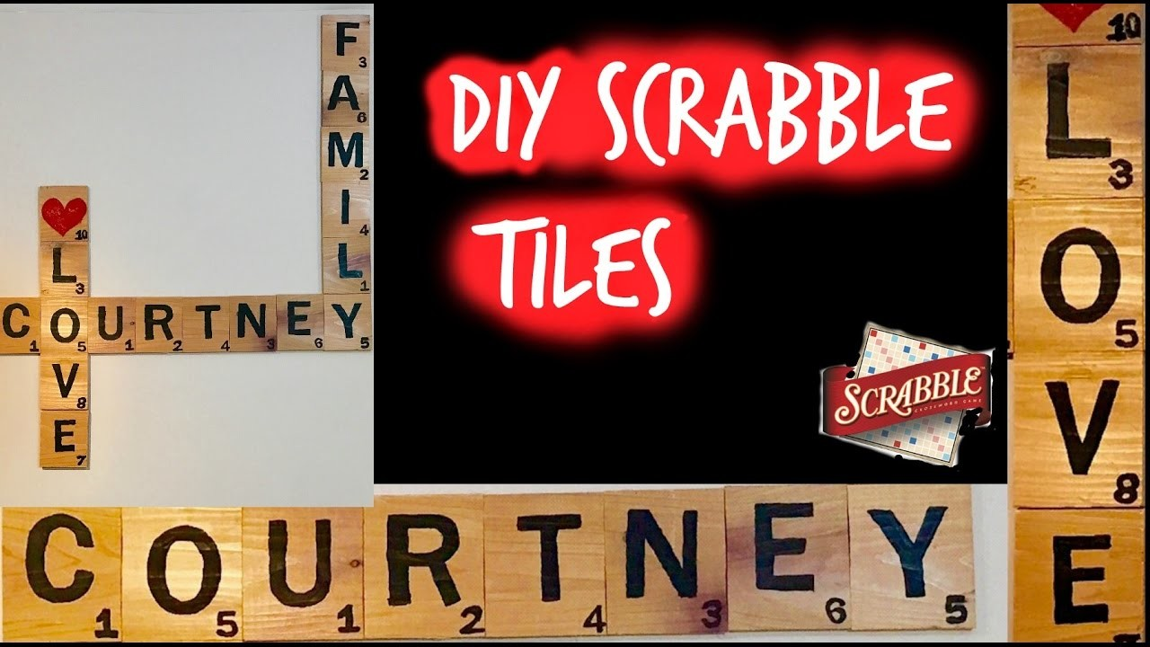 DIY Scrabble Tiles|How to make your own Scrabble Tiles (Wall Decor)