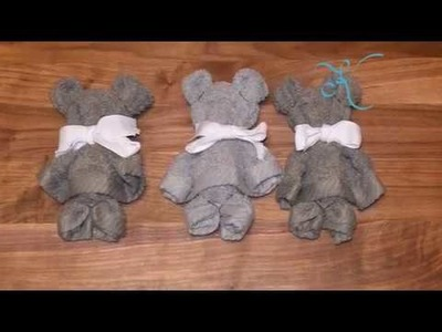 DIY Teddy Bear Washcloth Towel   How To Baby Shower Ideas