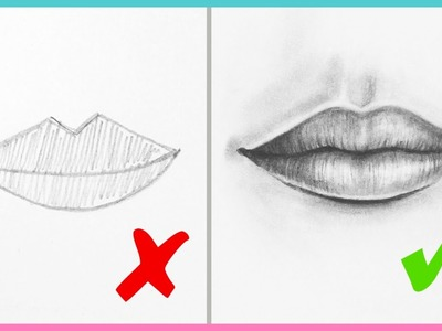 DOs & DON'Ts: How to Draw Realistic Lips & the Mouth Step By Step | Art Drawing Tutorial