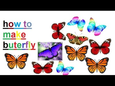 Easy craft how to make butterfly by wedding card