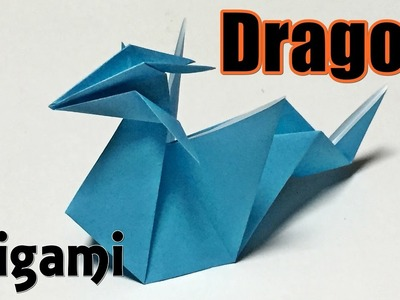 Easy origami dragon for beginners | How to make a paper cool dragon step by step
