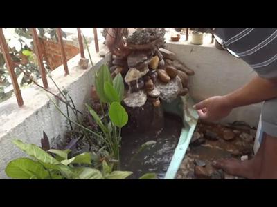 How can you make homemade waterfall