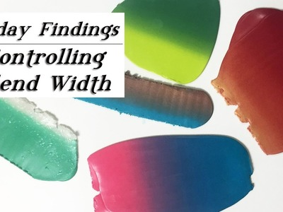 How To Control the Width of Polymer Clay Blends-Friday Findings Tutorial
