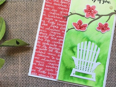 How to create a watercolor wash using Stampin Up products with Jenny Hall