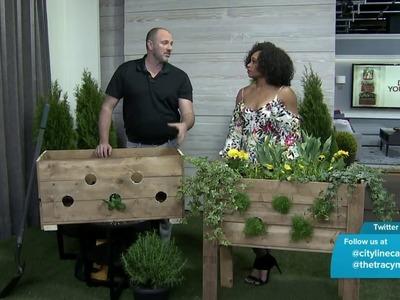 How to DIY a pallet planter box for a cascading garden