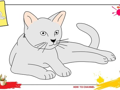 How to draw a cat 2 SIMPLE, EASY & SLOWLY step by step for kids