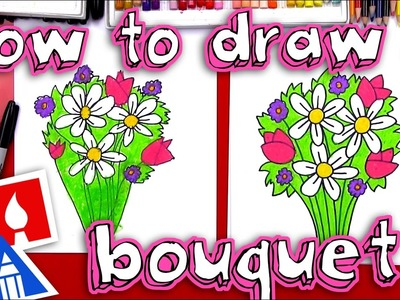 How To Draw A Flower Bouquet