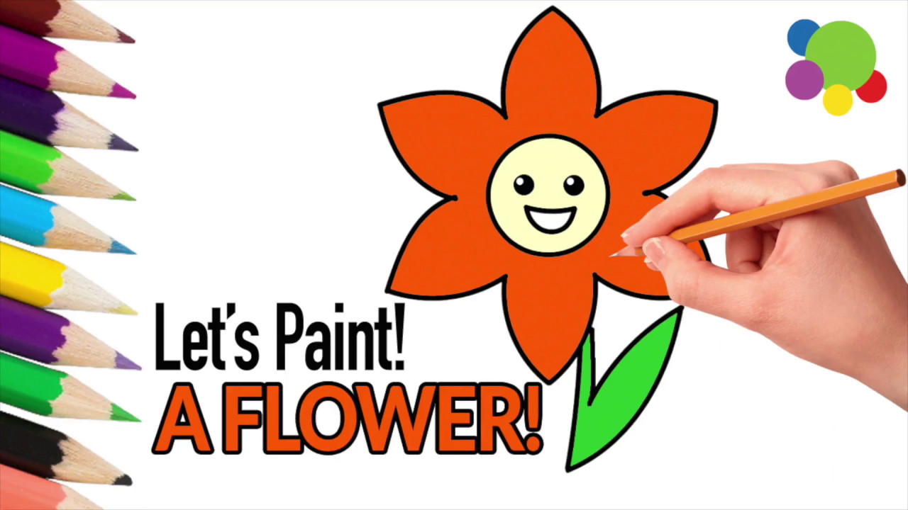 how to draw flowers with markers