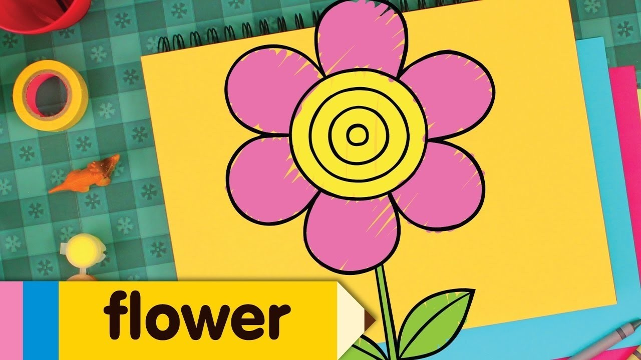 How to Draw a Flower   Simple Drawing Lesson for Kids