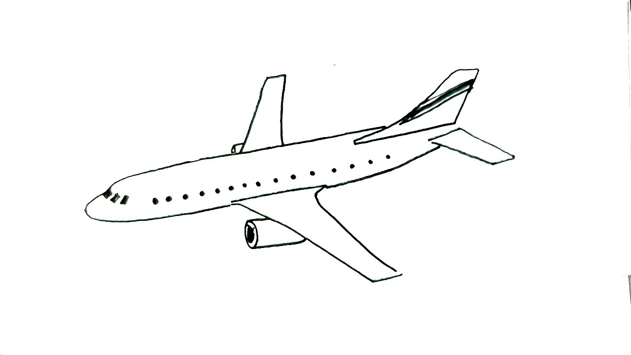 Draw, How to draw an aeroplane- in easy steps for children ...