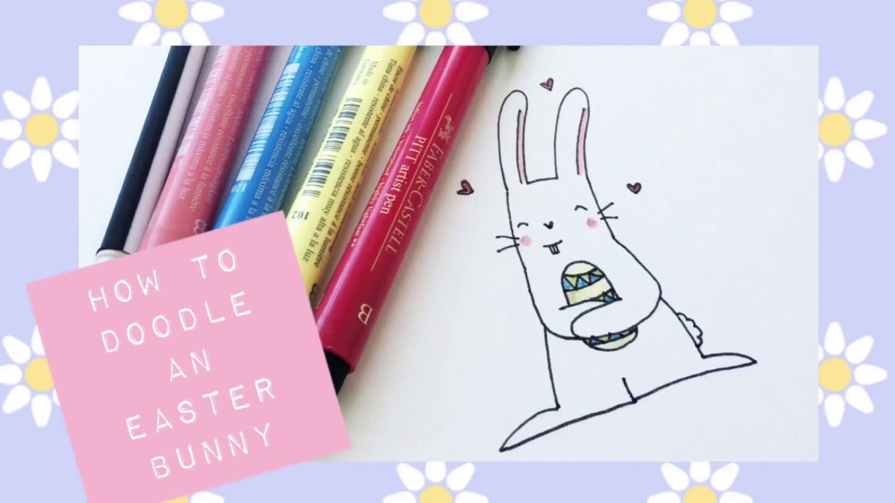 how to draw a easter bunny