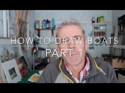 How to Draw Boats Part 1  Step by Step Drawing Fishing and Sailing Boats