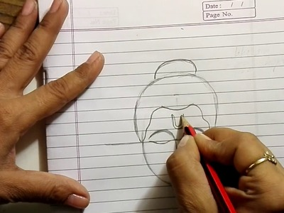 How to draw Buddha the easiest way -Learn the technique