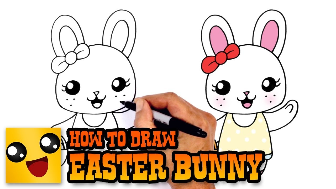 How To Draw Easter Bunny Drawing Lesson