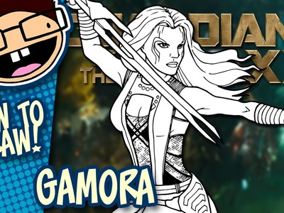 How to Draw GAMORA (Guardians of the Galaxy)   Narrated Easy Step-by-Step Tutorial