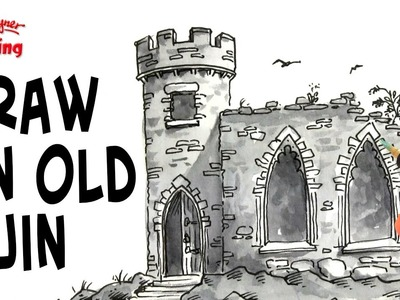 How to Draw Stonework on Old Ruined Buildings - Spoken Tutorial