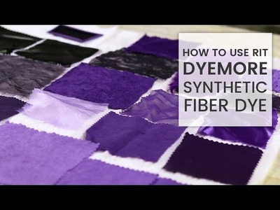 How to Dye Fabric: Rit DyeMore Synthetic Dye