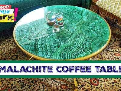 How to: Faux Malachite Coffee Table
