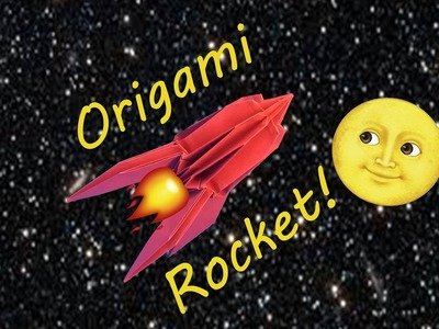 How to Fold a Cool 3D Origami Sci-Fi Space Rocket Ship