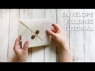 HOW TO fold an envelope in a beautiful way - TUTORIAL